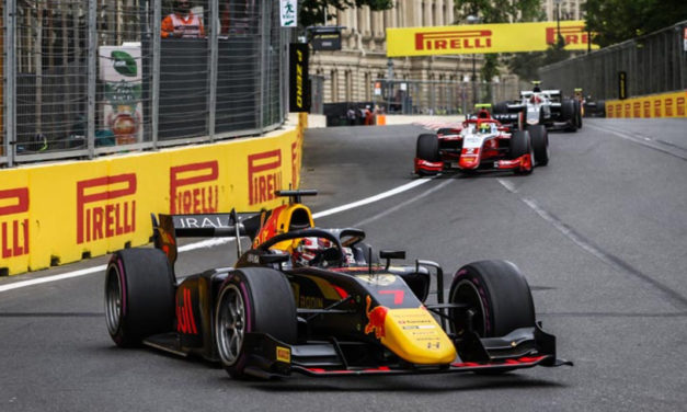 Frustration for Armstrong & Lawson as Vips wins F2 Feature race in Baku